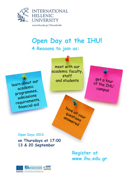Open day poster site September 13