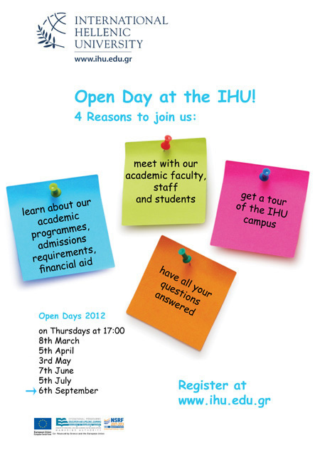 Open day poster site September 6