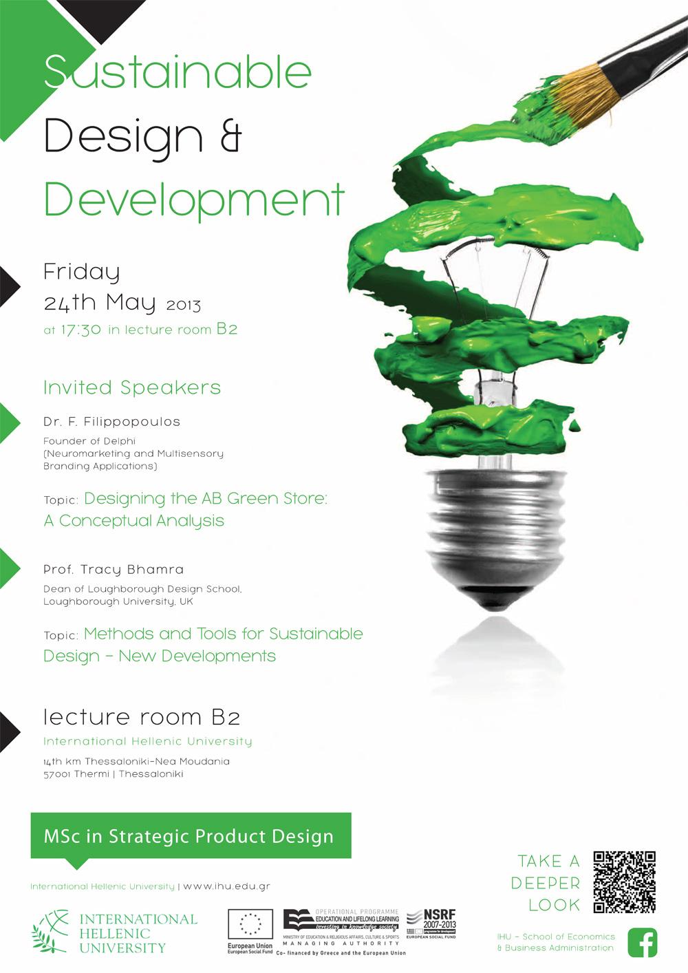 Sustainable design development event 24 may for Design development architecture