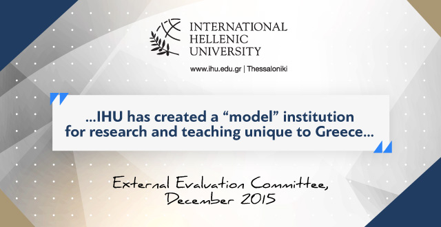 "External Evaluation Committee Institutional Final Report: IHU is ""Worthy of Merit"""